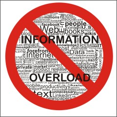 A blog highlighting how to deal wtih information overload